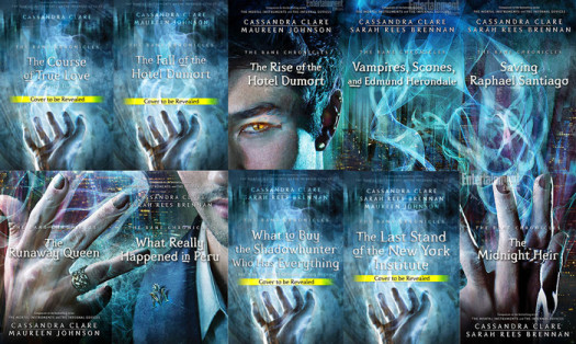 The cover for each story in The Bane Chronicles is one piece to a puzzle that forms the larger image of Magnus Bane.