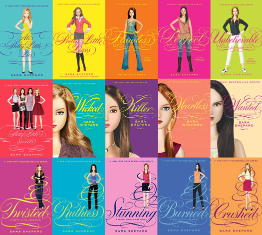 Fifteen of the Pretty Little Liars novels
