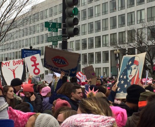 We spent a big chunk of the time waiting for the march to start at this intersection.