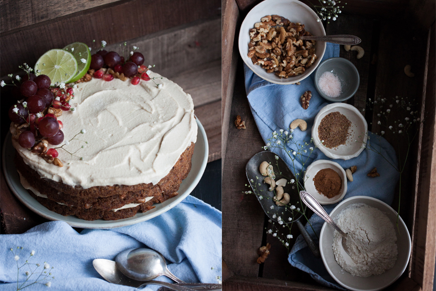 Vegan Carrot Cake - The Little Plantation