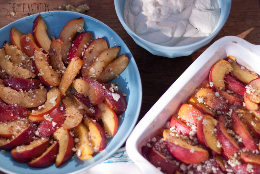 vegan peaches and cream recipe - The Little Plantation