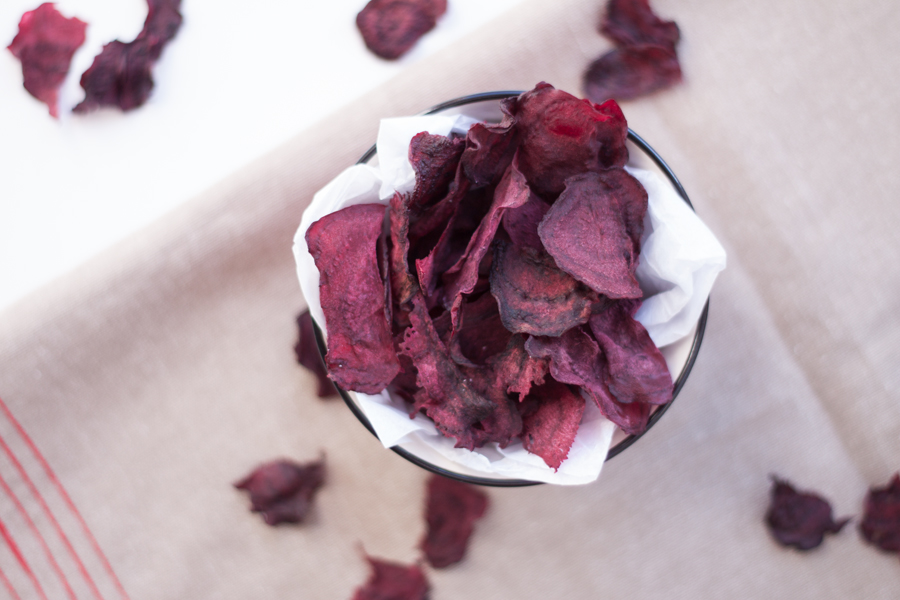 vegan beetroot crisps/chips - The Little Plantation