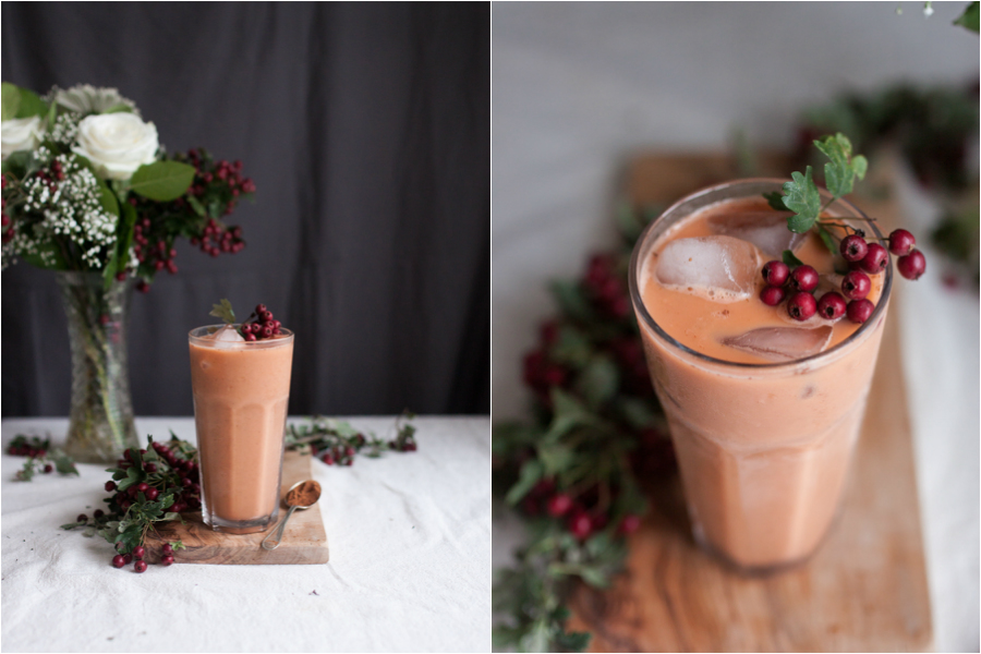 vegan sweet potato pie smoothie recipe - The Little Plantation