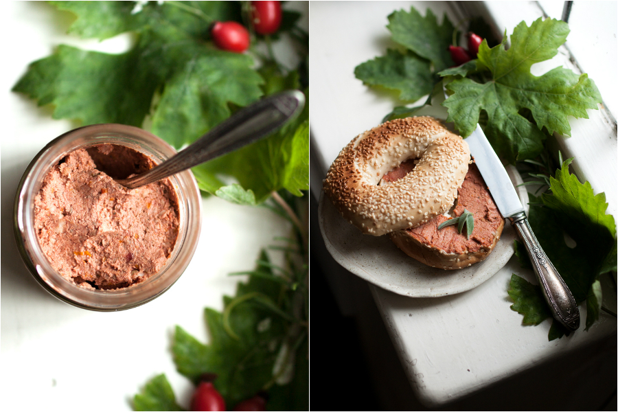 vegan sun-dried tomato pate recipe - The Little Plantation