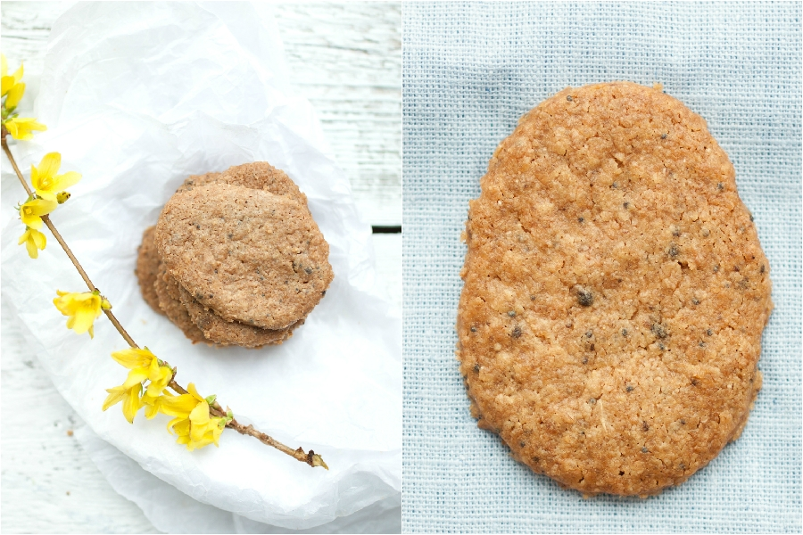 vegan lemon, poppy seed and mushroom cookies - The Little Plantation