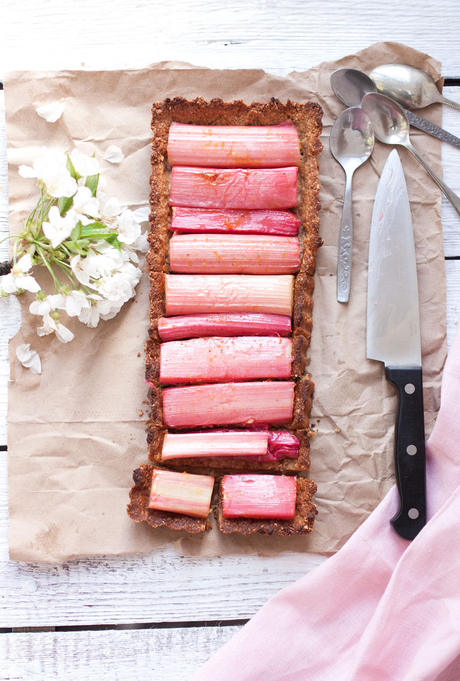 sweet rhubarb tart - The Little Plantation