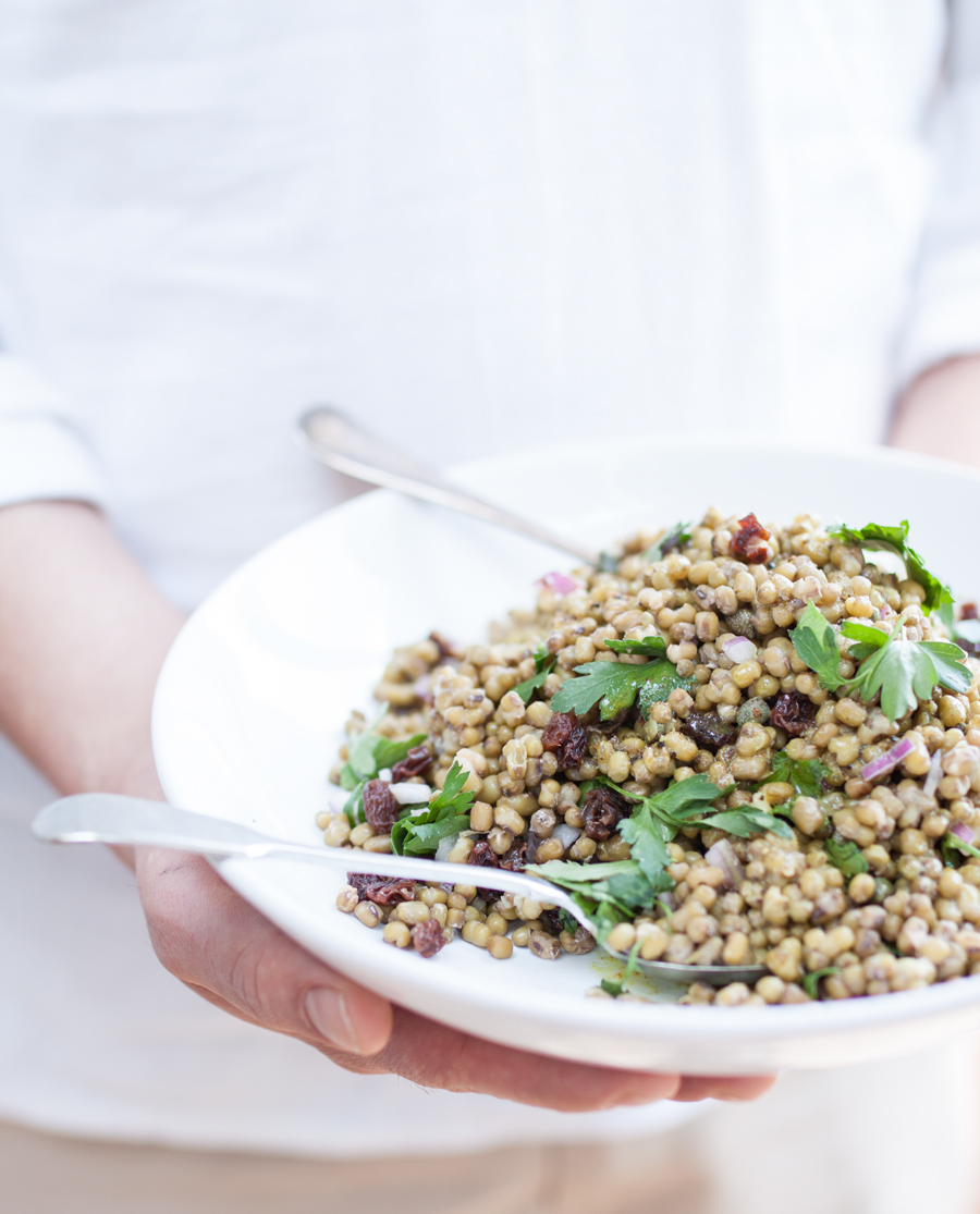 vegan mung bean salad - The Little Plantation