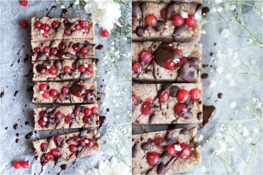 Raw Vegan Cookie Dough and Berry Bars Recipe - The Little Plantation