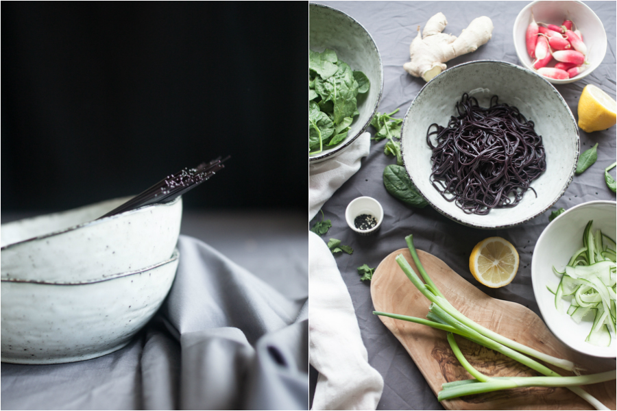How to make warm Japanese Black Noodles - The Little Plantation