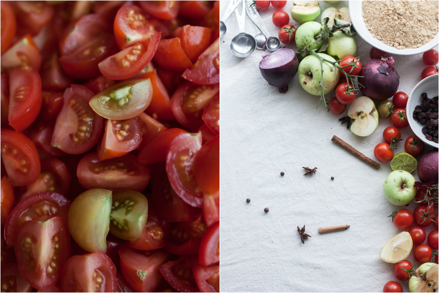 ingredients-apple-tomato-chutney
