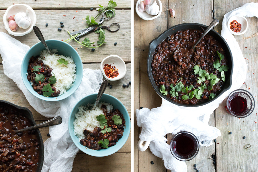 Vegan Colombian Black Bean Stew recipe - The Little Plantation
