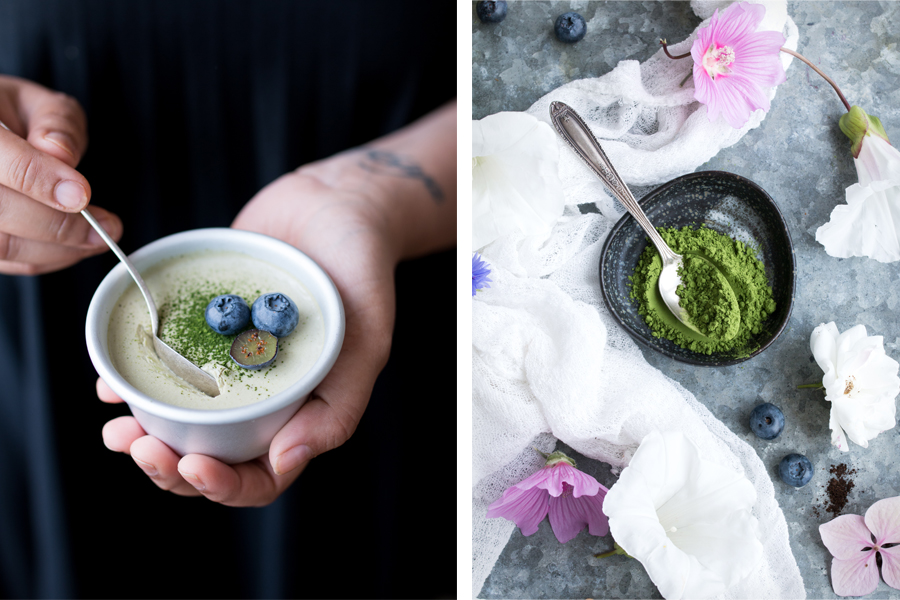 How to make Vegan Matcha and Coconut Panna Cotta with Green Leaf Matcha - The Little Plantation