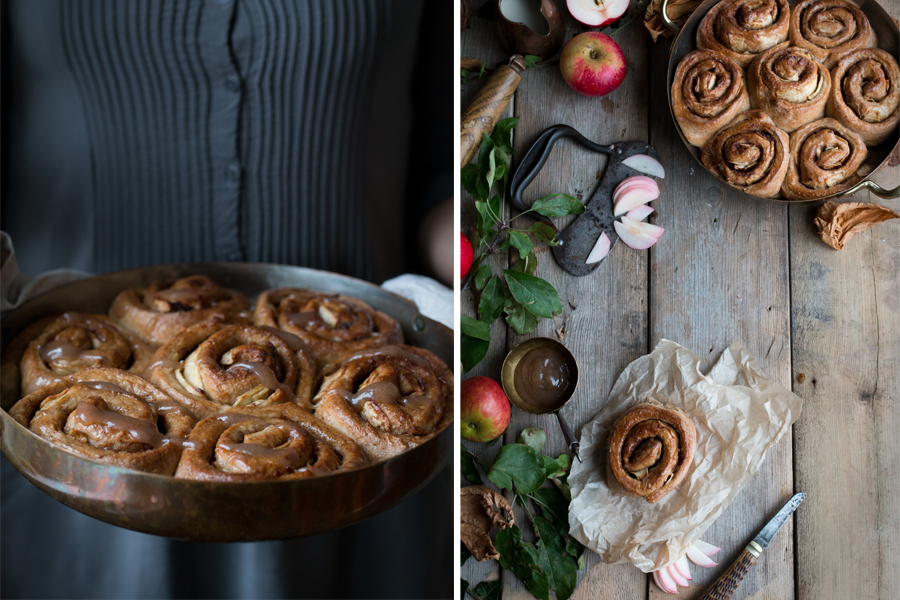 How to make vegan cinnamon apple rolls - The Little Plantation