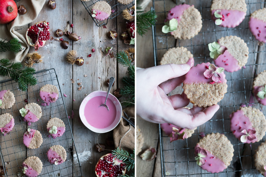 vegan chestnut Christmas cookies - The Little Plantation