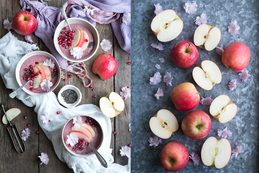 How to make vegan apple smoothie - The Little Plantation