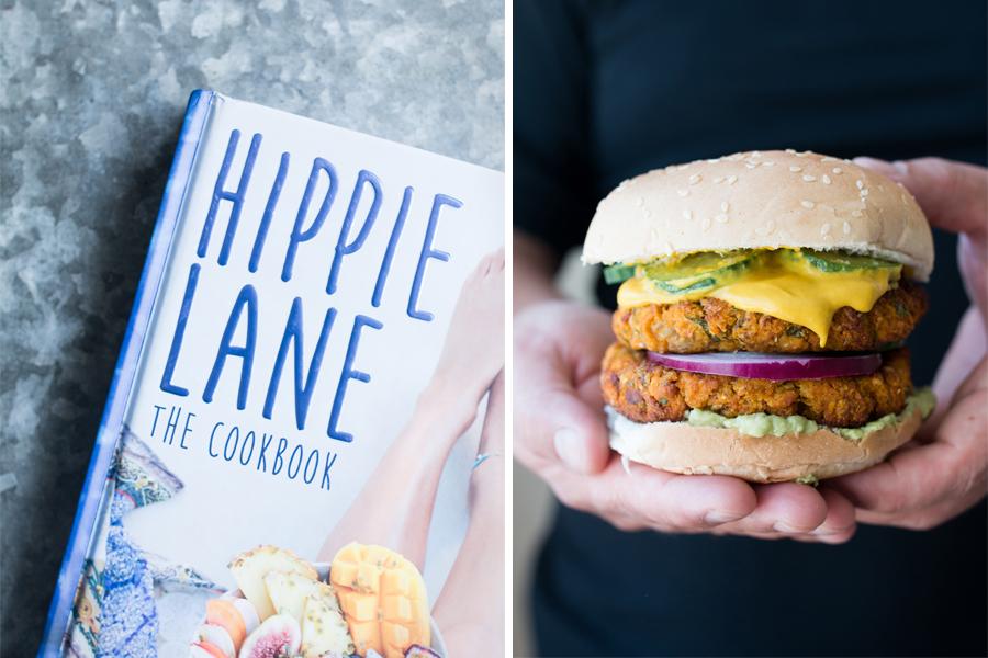 vegan chickpea veggie burgers - The Little Plantation