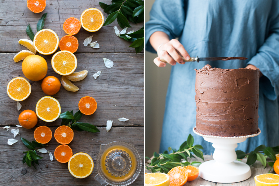 How to make vegan chocolate orange cake - The Little Plantation