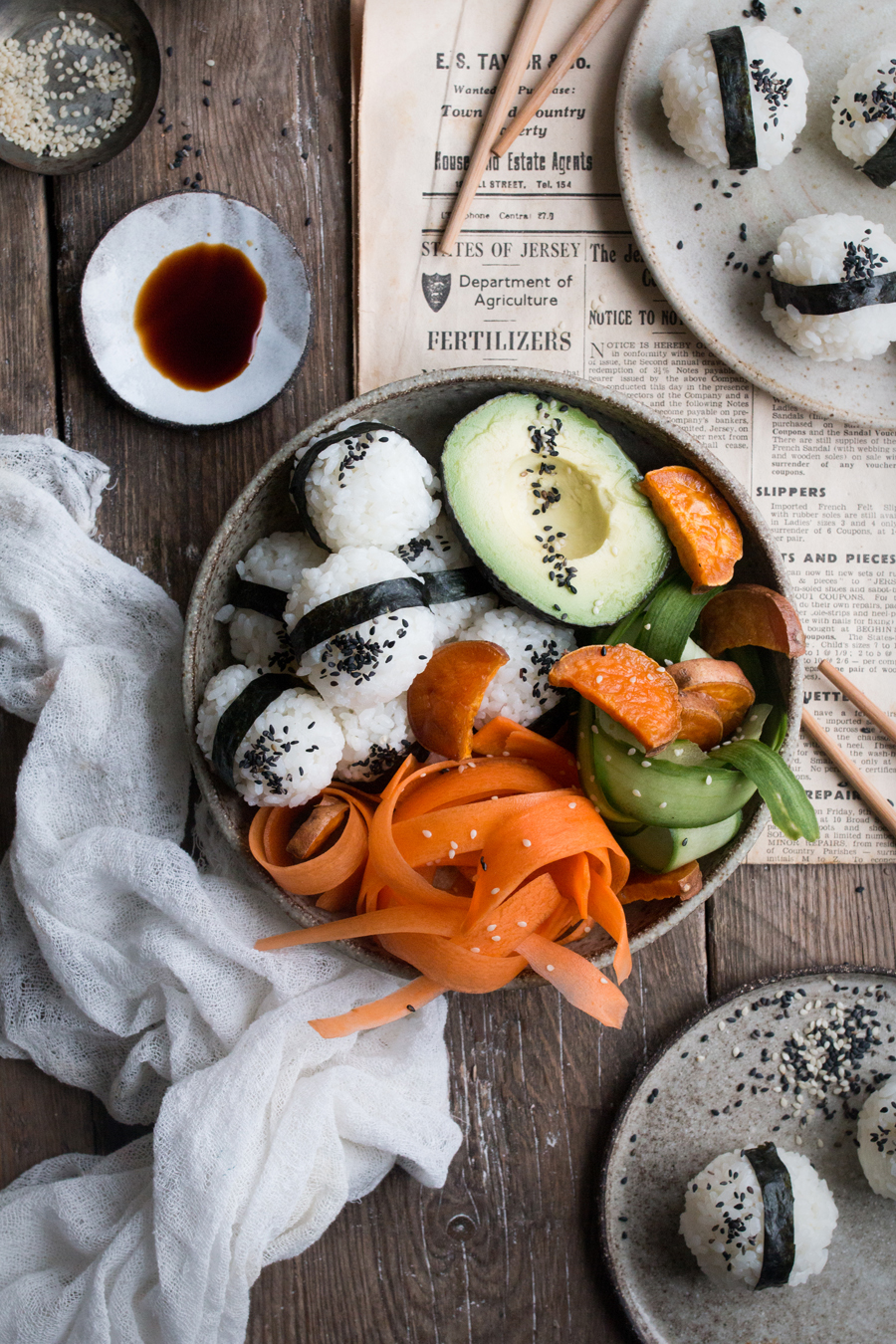 Vegan sushi bowl recipe - The Little Plantation blog