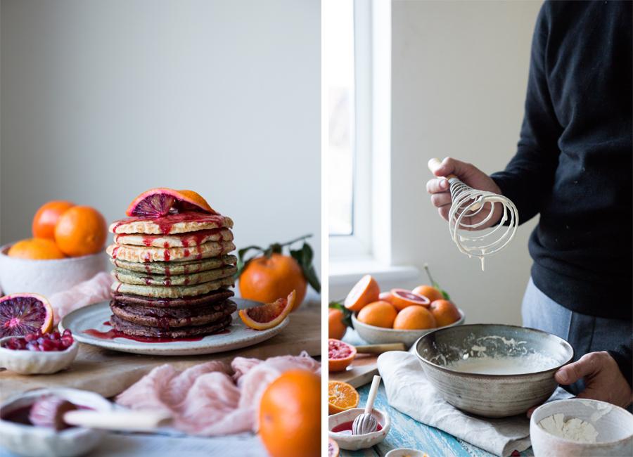 Vegan chocolate pancake recipes - The Little Plantation blog