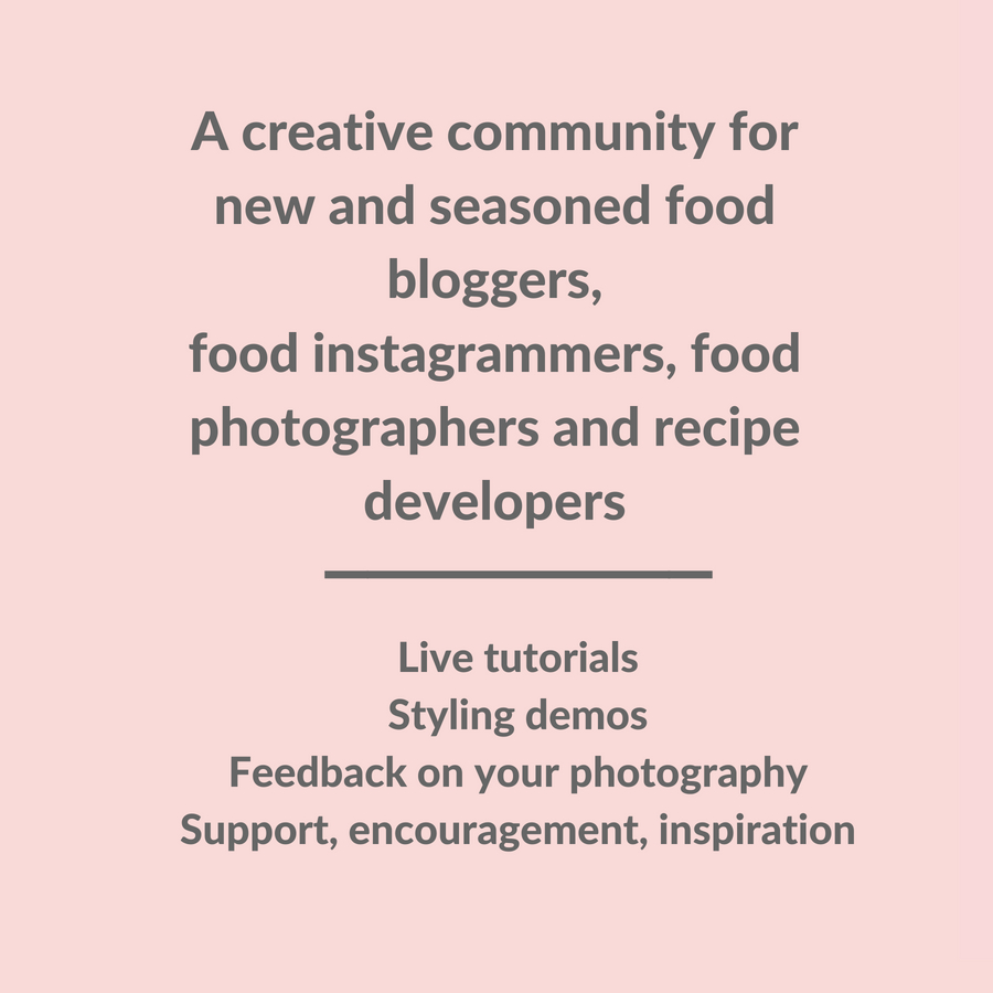 Join free creative food photography community