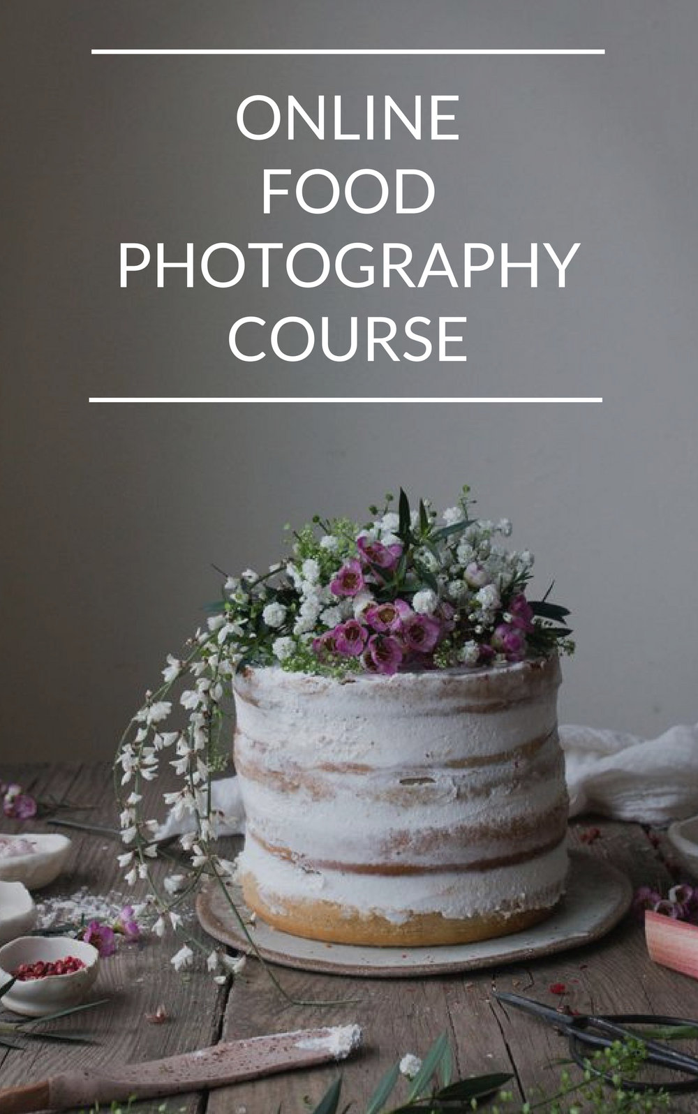 Online food photography classes for beginners