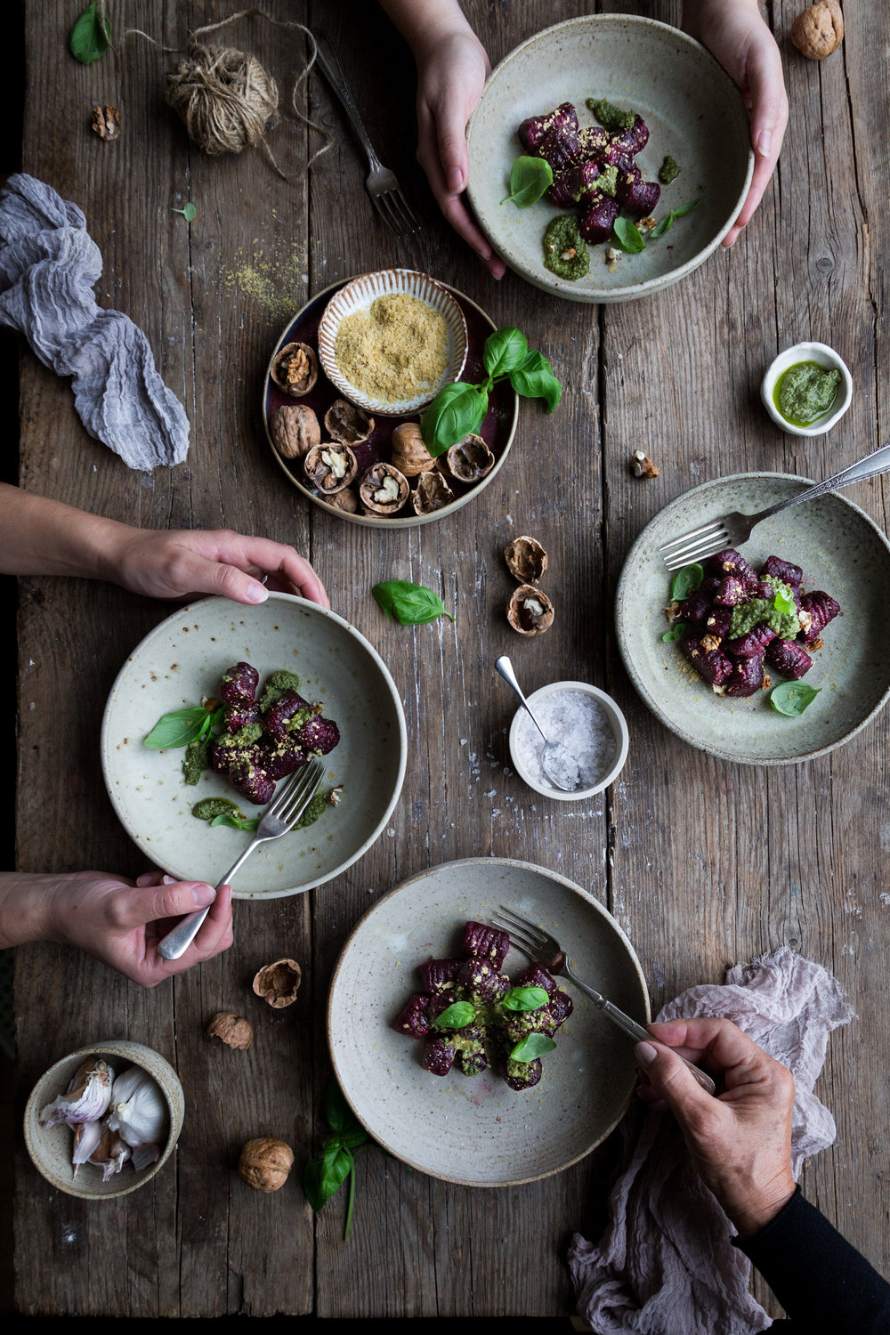 London food styling workshop - shot includes ceramics by sponsors,  NOM Living  and  Leu Ceramics  and blue salt by  Sous Chef .