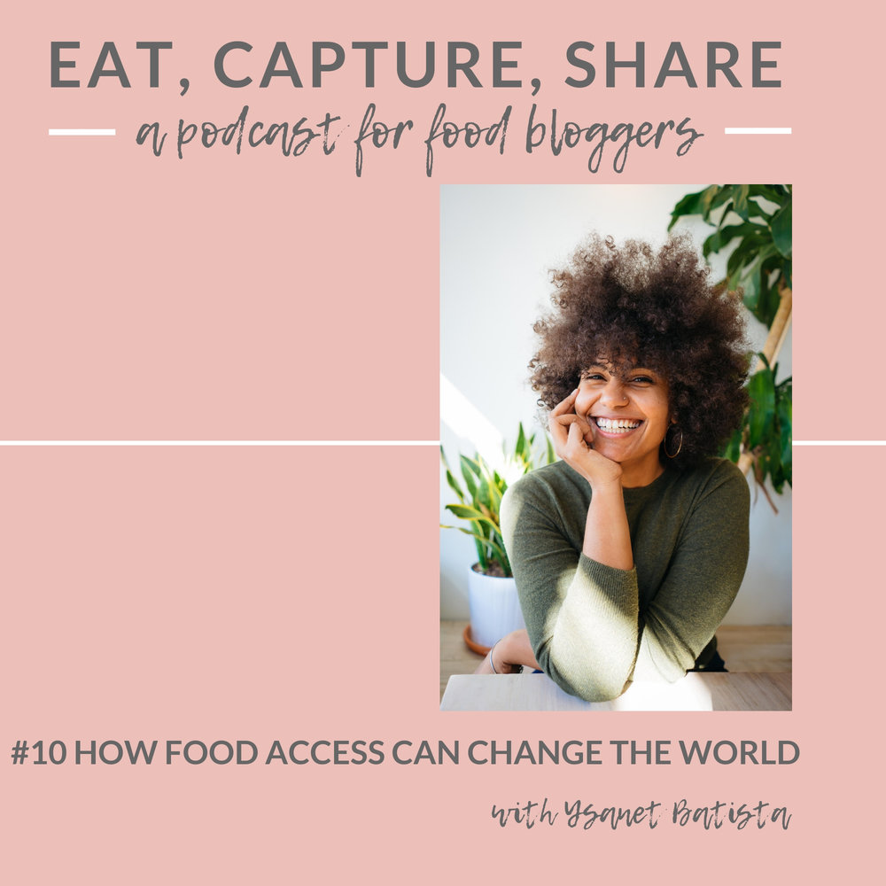 How food access can change the world with Ysanet Batista, plant-based chef and founder of WOKE FOODS - Eat, Capture, Share Podcast