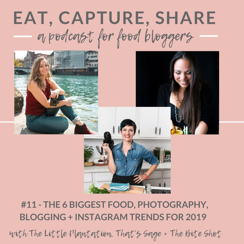 What are the biggest food trends on instagram in 2019 - Eat, Capture, Share Podcast episode 11