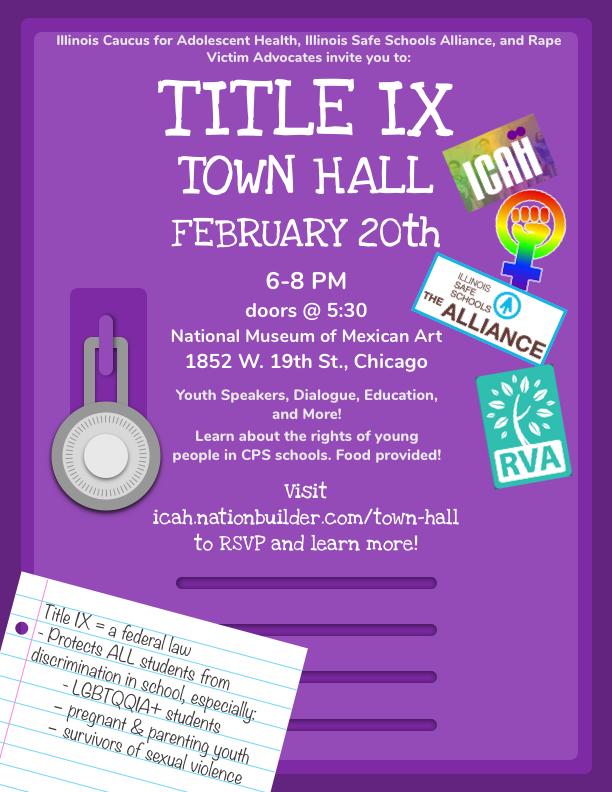 Title IX Town Hall — Illinois Caucus for Adolescent Health