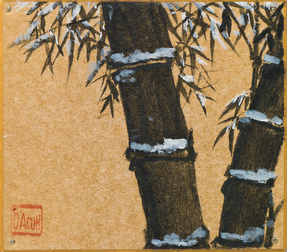 Black Bamboo in Snow