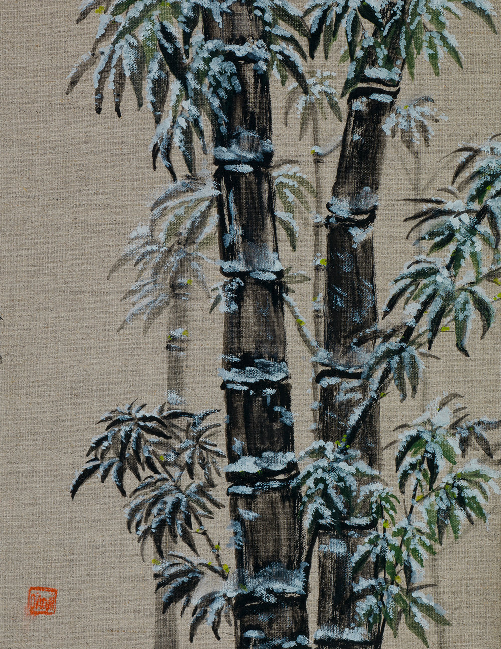 Black Bamboo in Winter