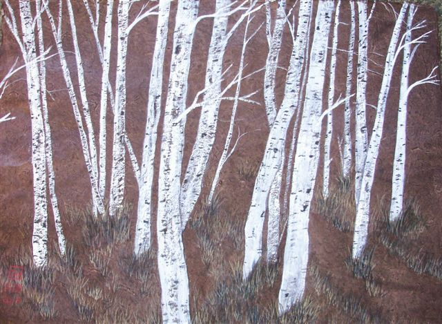 Birch on Brown