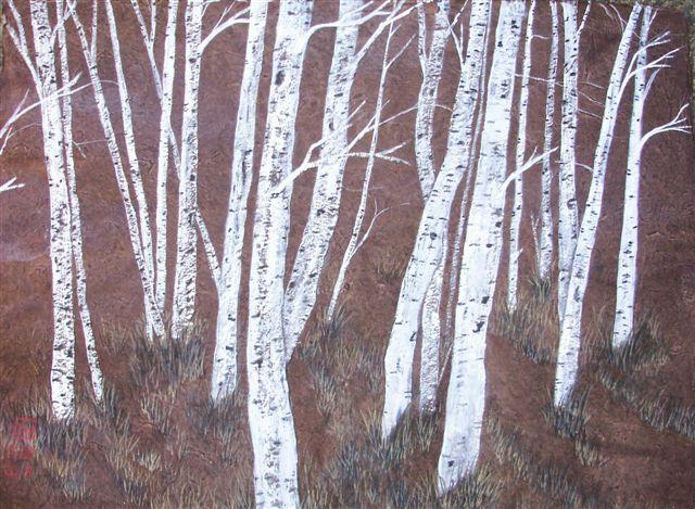 Birch on Brown
