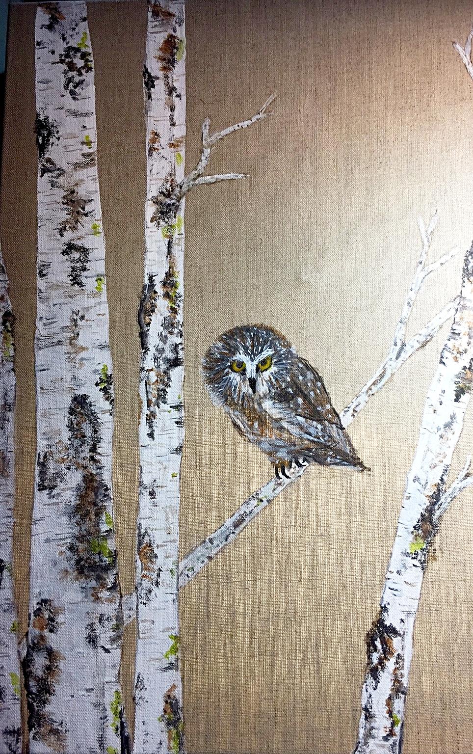 Owl & Birch