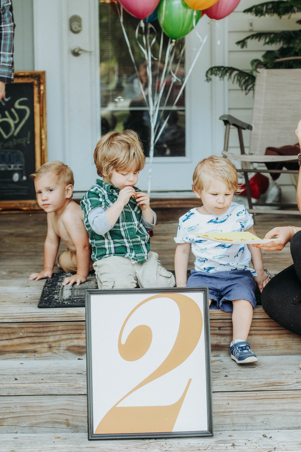 Emmerson (far right) with his two best friends since birth, Micah (far left) and Jaxson, his first cousin.