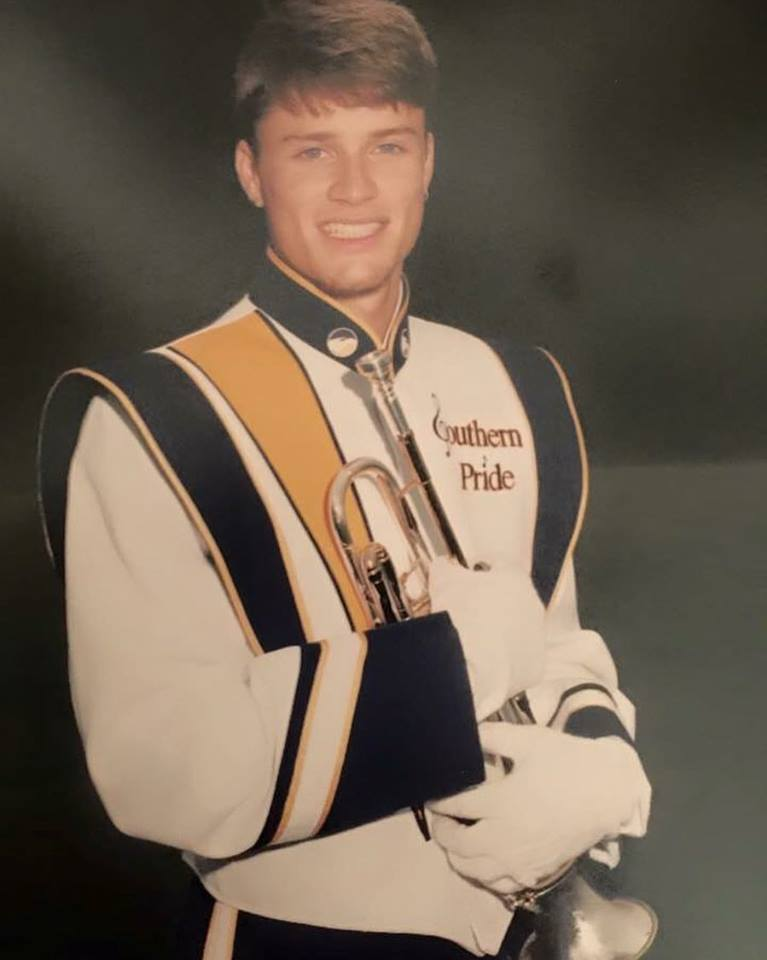 Russ during his marching days!