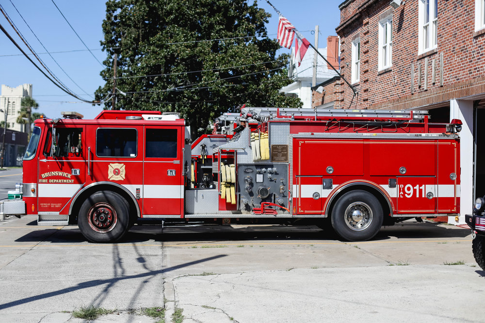 Brunswick Fire Department Downtown Brunswick Fire Station One Fire Engine
