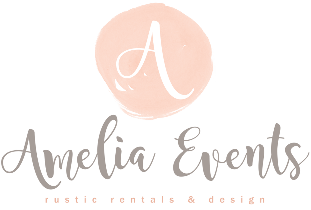 - Amelia Event Rentals specializes in Rustic, Shabby Chic, Southern and Farm style rentals. Pieces including farm tables, benches, whiskey barrels, gold silverware, gold chivari chairs and much more. Amelia Event Rentals is a company who is eager to help with all your rental needs. Customer service is impeccable and their sincere care for your day is overwhelming.