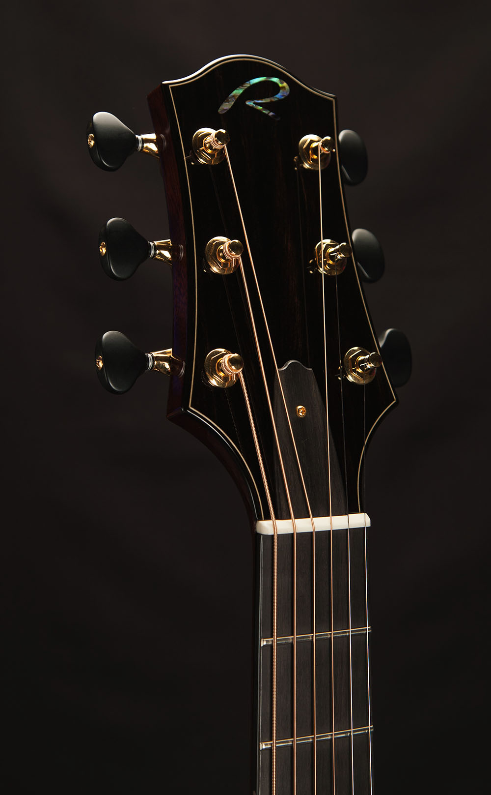 Ebony Headstock Plate