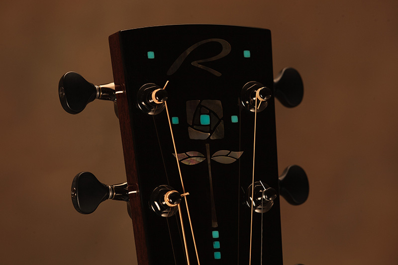 """Pueblo Rose"" Headstock Inlay"