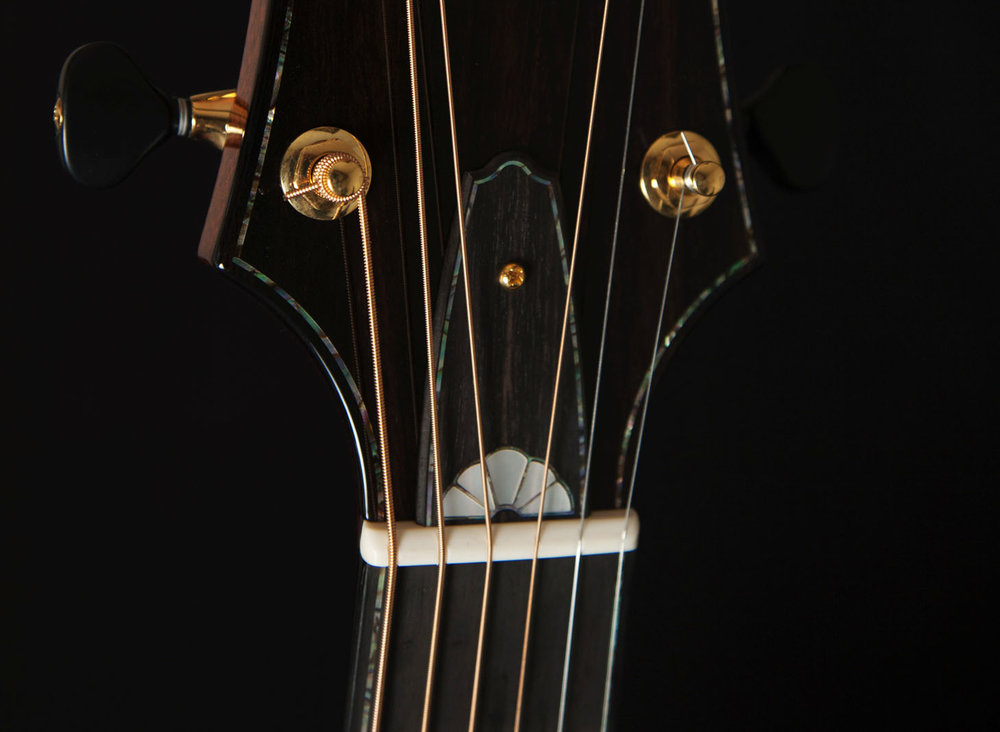 Inlaid Ebony Truss Rod Cover
