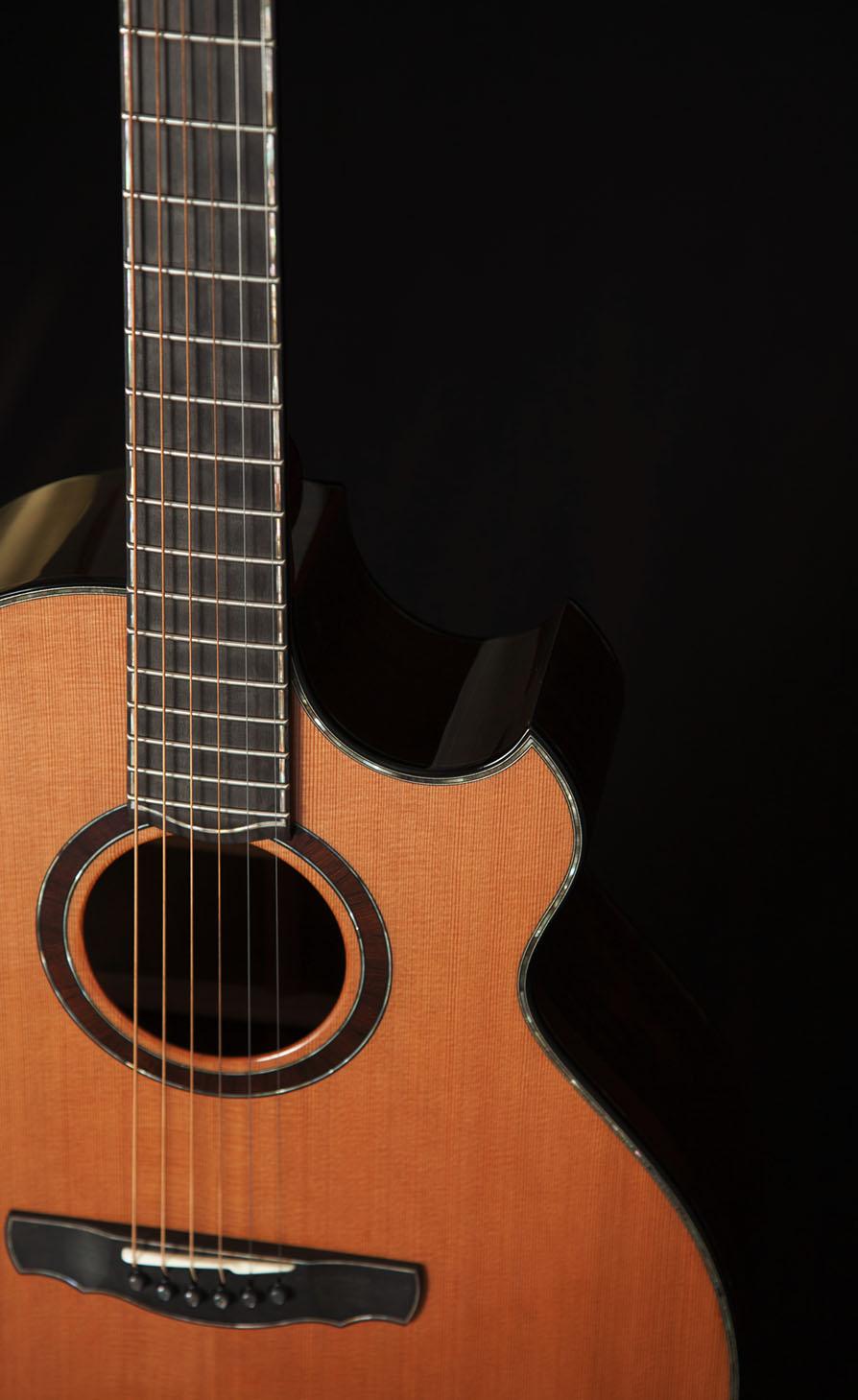 Black Pearl Soundboard Purfling