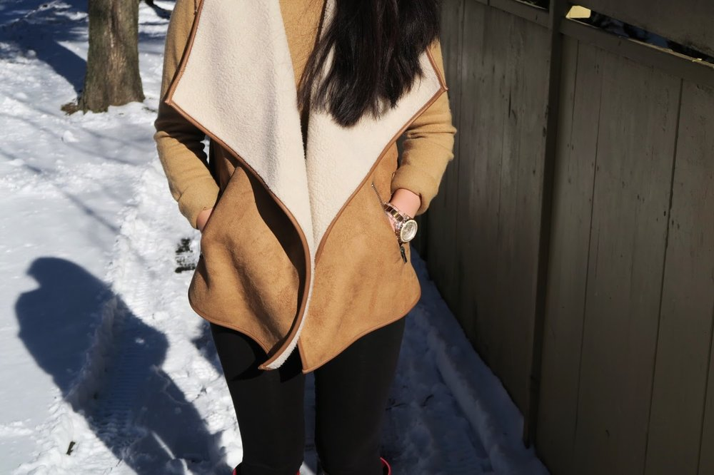 The Faux Shearling Vest