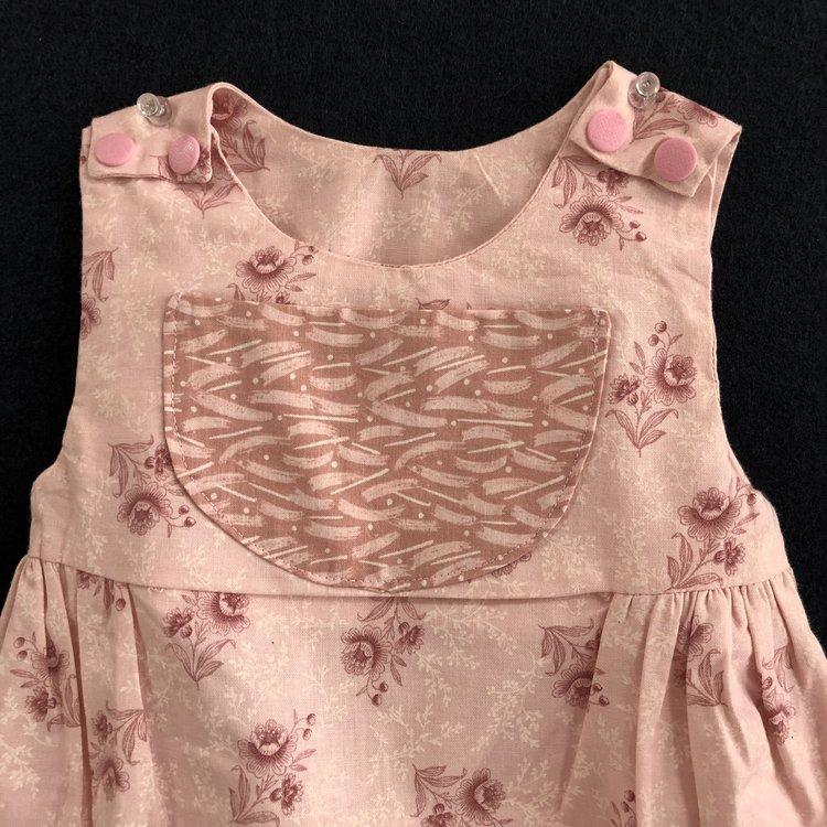 Baby Bubble/Romper Vintage Rose