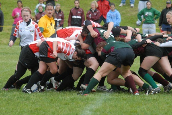 a lil scrum ... it's a means of restarting play... perhaps if the ball was knocked forward.