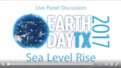 Earth Day Texas - Sea Level Rise panel