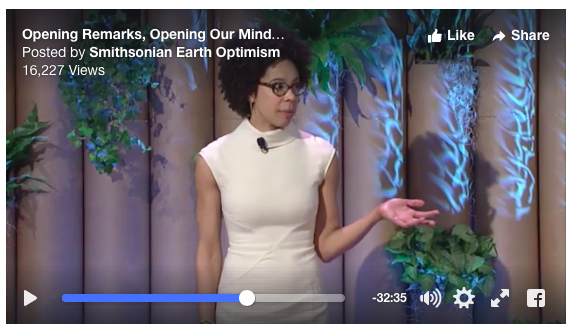 World Ocean Festival ambassador, Ayana Johnson, at Earth Optimism Summit.