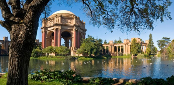 Palace of Fine arts    (can be a bit touristy/packed with people)
