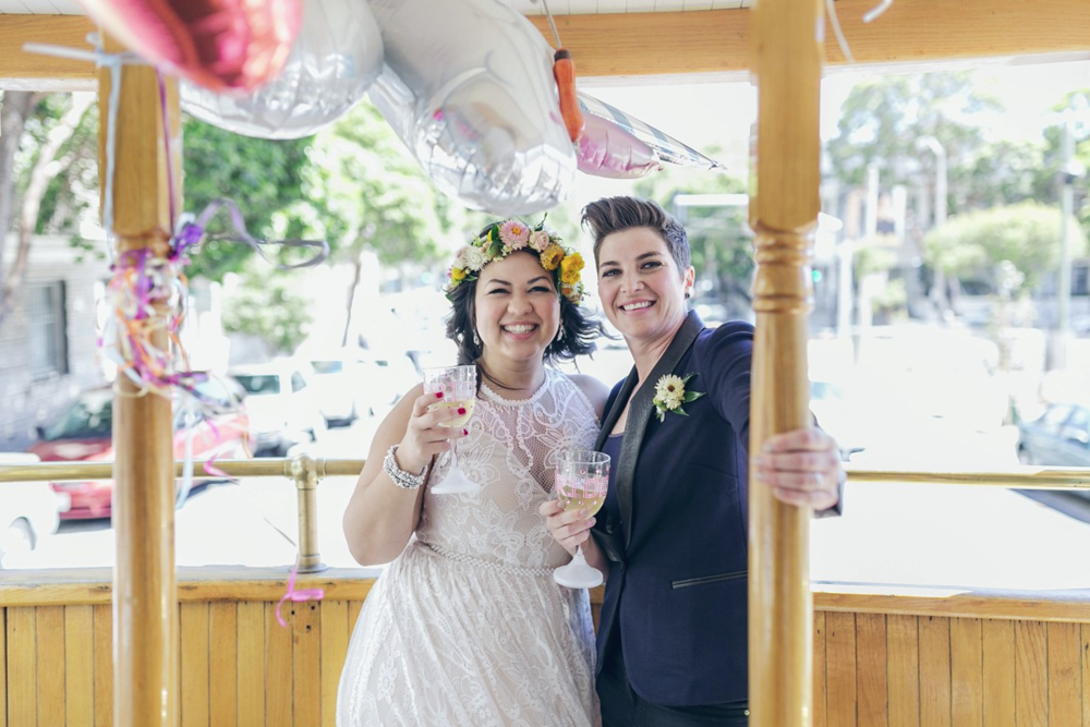SF LGBT CITY HALL WEDDING