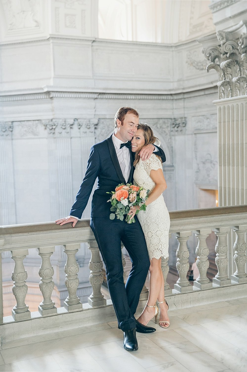 SF CITY HALL + MARIN RECEPTION WEDDING